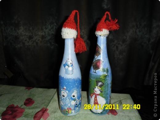 Вот такие бутылочки в шапочках получились фото 1