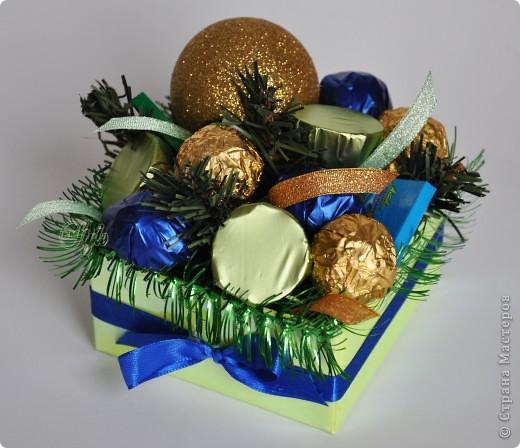 Вот такие у меня получились конфетные, новогодние композиции. фото 4