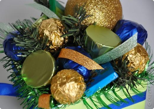 Вот такие у меня получились конфетные, новогодние композиции. фото 5
