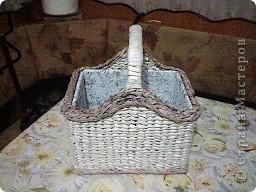 давно хотела корзинку для своих клубочков , вот наконец-то решилась и сплела. фото 1
