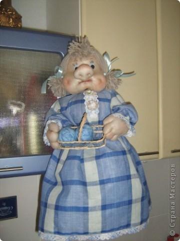Моя первая кукла-пакетница фото 1
