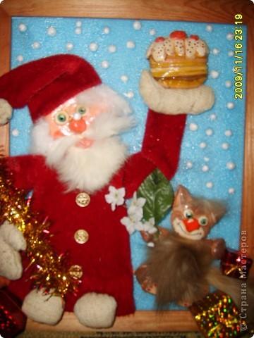 Дед Мороз с тортиком.