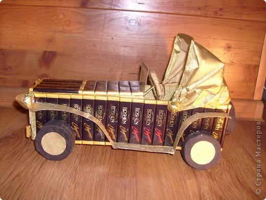 И у меня подготовка к Новому году идет всем ходом))) вот появился сладкий автомобиль, спасибо огромное Светлане Лане и Efroska за ее мк)))  фото 2