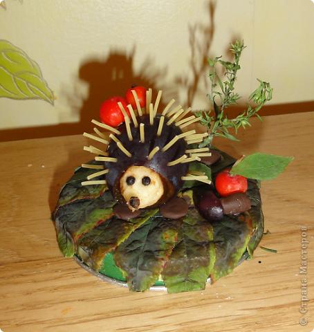 Ежик из овощей в детский сад своими руками