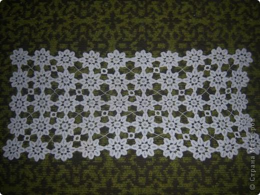 салфетка сравнительно небольшая 40х80,а потому дополнительно сделала подстаканники из отдельных сегментов фото 1