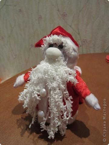 Валеночек для подарков. Большой. Апликация из вафельной ткани, с новогодней тематикой. фото 6