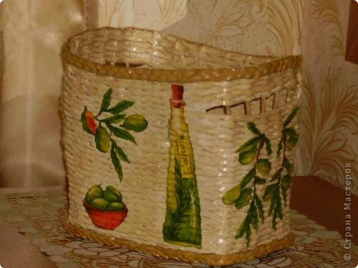 Вот для кумушки приготовила подарок. Она очень любит оливковую тему..... фото 1