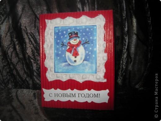 Мои новогодние открыточки фото 6