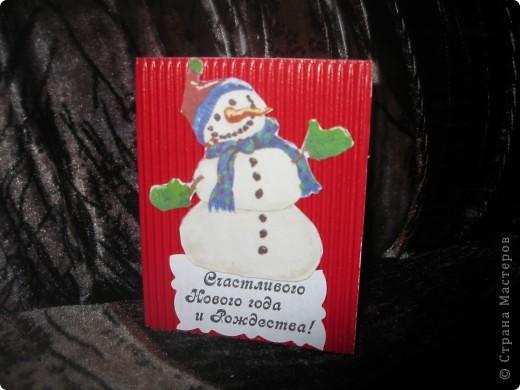 Мои новогодние открыточки фото 8