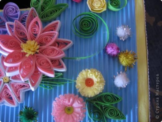 Теперь казну украшала цветочками. Попробовала квиллинг))) фото 5