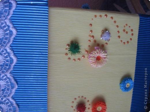 Теперь казну украшала цветочками. Попробовала квиллинг))) фото 4