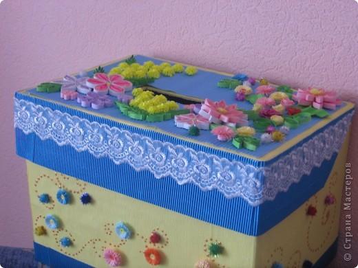 Теперь казну украшала цветочками. Попробовала квиллинг))) фото 1