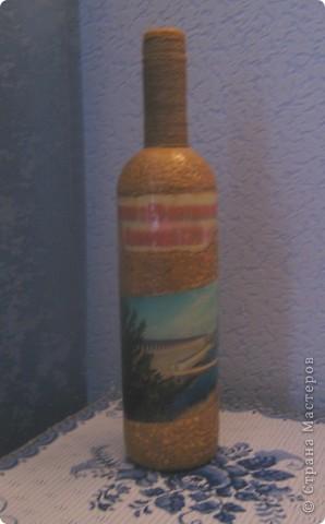 Здравствуйте, дорогие мастерицы! Выставляю на ваш суд бутылку, сделанную на заказ к 50-летию Братской ГЭС.  Материала не хватало, краски песни на третий день поплыли , время поджимало. И вот что получилось. Извините за качество фото, вспомнила в последний момент.  фото 3