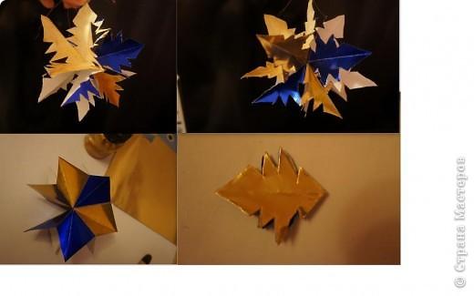 Такая чудоковатая снежинка делается из модулей https://stranamasterov.ru/node/127916 (делать только с 1-3 шаги).  Здесь использовано 3 модуля. Все модули склеиваются между собой и вырезается снеговик (взято 3 модуля, чтобы легко было вырезать, иначе с фигурными формами дети не справятся). См. также фото 5. фото 3