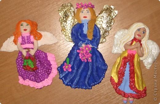 Ангелочки из теста.
