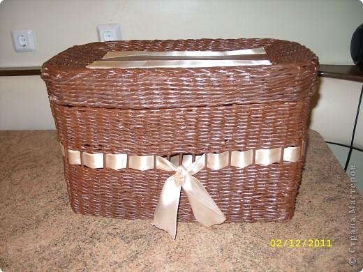 Первая плетеная коробочка