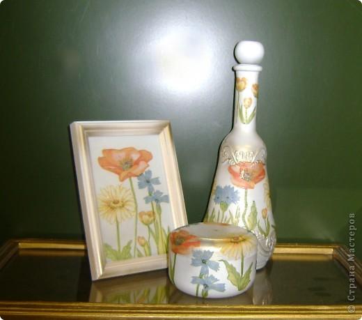Вот) Рамка, шкатулка и бутылка) фото 1