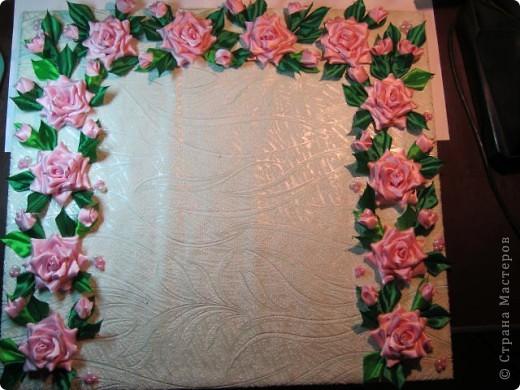 """Дорогая Страна, хочу показать Вам розы, а сделала я их для веночка в к иконе"""" Неувядаемый цвет"""", она спасает от страшной болезни- рак. Привезена она одной женщиной из Ерусалима и находится у нас в храме. Работа очень ответственная и волнительная, все переживала, справлюсь ли. фото 4"""