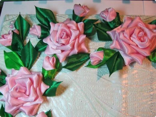 """Дорогая Страна, хочу показать Вам розы, а сделала я их для веночка в к иконе"""" Неувядаемый цвет"""", она спасает от страшной болезни- рак. Привезена она одной женщиной из Ерусалима и находится у нас в храме. Работа очень ответственная и волнительная, все переживала, справлюсь ли. фото 3"""