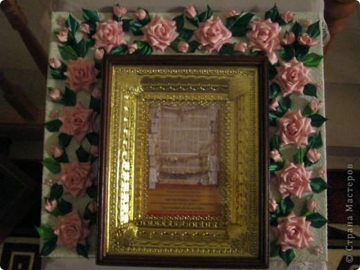 """Дорогая Страна, хочу показать Вам розы, а сделала я их для веночка в к иконе"""" Неувядаемый цвет"""", она спасает от страшной болезни- рак. Привезена она одной женщиной из Ерусалима и находится у нас в храме. Работа очень ответственная и волнительная, все переживала, справлюсь ли. фото 5"""