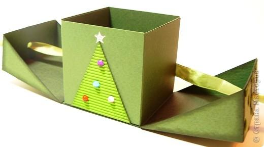 Коробочки для небольшого подарка. Можно повесить на елку размер кубика 7 на 7 см. МК http://whiffofjoy.blogspot.com/2010/07/baby-gift-box-by-inge-groot.html фото 5