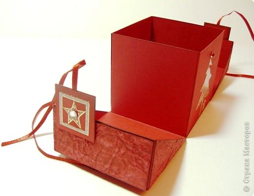 Коробочки для небольшого подарка. Можно повесить на елку размер кубика 7 на 7 см. МК http://whiffofjoy.blogspot.com/2010/07/baby-gift-box-by-inge-groot.html фото 8