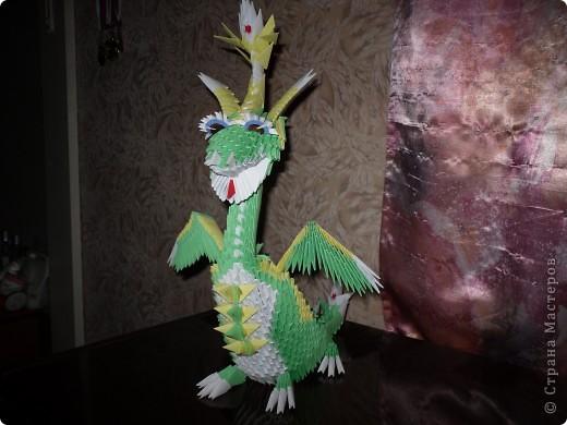 Зелёный Дракоша-Красавчик. фото 1