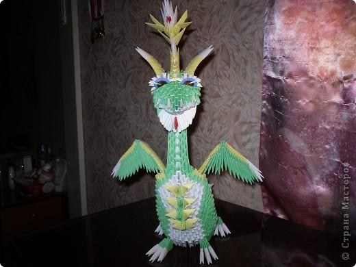 Зелёный Дракоша-Красавчик. фото 2
