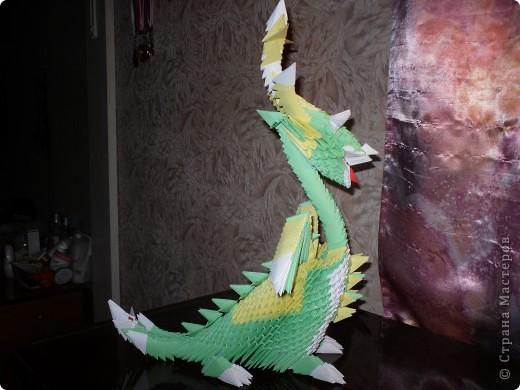 Зелёный Дракоша-Красавчик. фото 3