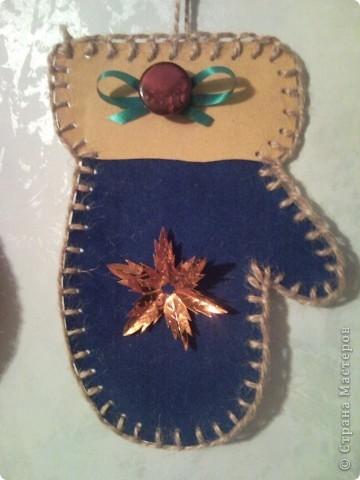 Синяя рукавичка. фото 1