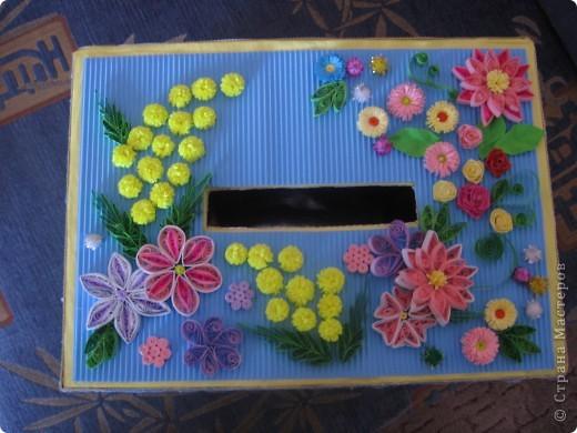Теперь казну украшала цветочками. Попробовала квиллинг))) фото 6
