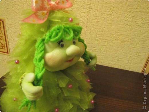 Куклы Мастер-класс Новый год Шитьё Ёлка Мини мастер-класс Капрон фото 8
