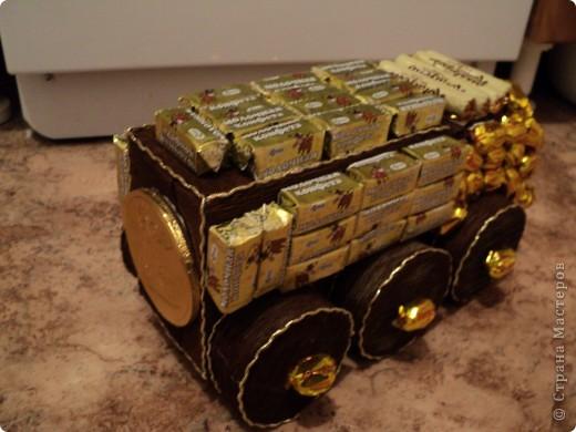 Вот такая сладкая машина поедит на день рождения крестника!!!! фото 2