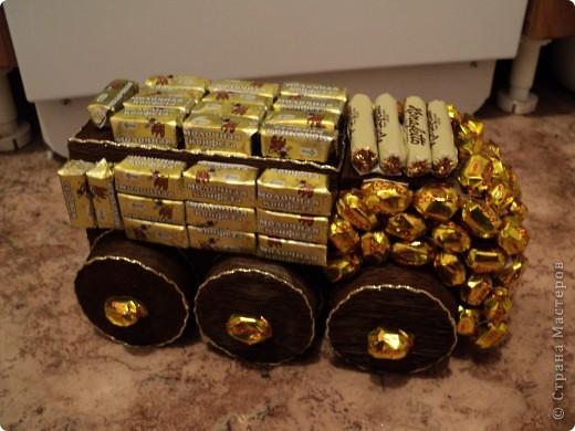 Вот такая сладкая машина поедит на день рождения крестника!!!! фото 1