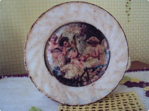 тарелка с декупажем фото 1