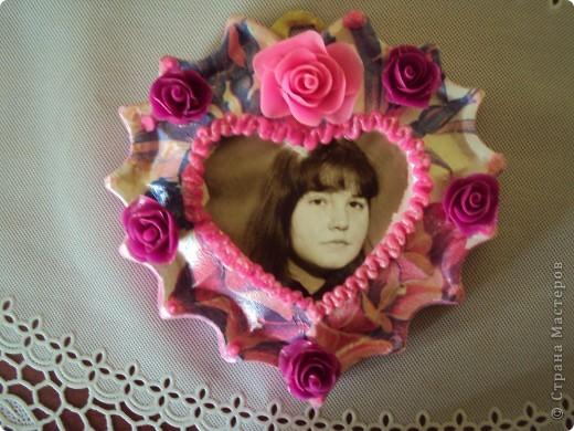 отливка из гипса украшенная розами из холодного фарфора фото 1