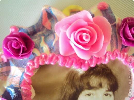 отливка из гипса украшенная розами из холодного фарфора фото 2