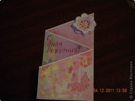 ко дню матери сделала открытку-повторюшку для своей мамочки, увидела ее тут https://stranamasterov.ru/node/205617?c=favorite фото 4