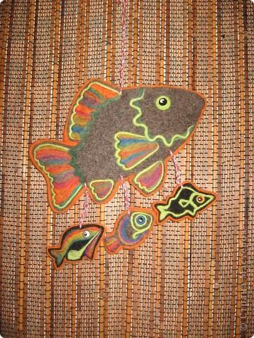 Этнические рыбки получились фото 1