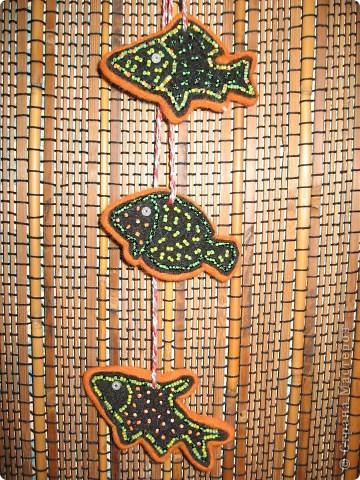 Этнические рыбки получились фото 5