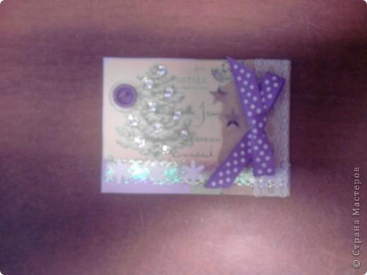 Вот и снова я со своими карточками. Нашел у себя где-то в закромах новогодние распечатки, которые использовал еще в сааааааамых первых новогодних открытках. В результате получилась вот такая серия из 5 карточек. Количество моих кредиторов (наконец то!) уменьшилось до одного - это ЛЁКА ЛЁКИНА. Она выбирает первой. Оставшиеся три карточки для свободного обмена. фото 4