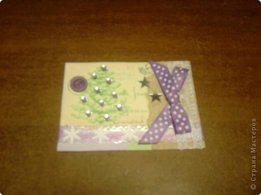 Вот и снова я со своими карточками. Нашел у себя где-то в закромах новогодние распечатки, которые использовал еще в сааааааамых первых новогодних открытках. В результате получилась вот такая серия из 5 карточек. Количество моих кредиторов (наконец то!) уменьшилось до одного - это ЛЁКА ЛЁКИНА. Она выбирает первой. Оставшиеся три карточки для свободного обмена. фото 5