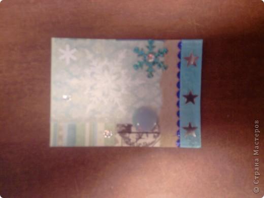 Вот и снова я со своими карточками. Нашел у себя где-то в закромах новогодние распечатки, которые использовал еще в сааааааамых первых новогодних открытках. В результате получилась вот такая серия из 5 карточек. Количество моих кредиторов (наконец то!) уменьшилось до одного - это ЛЁКА ЛЁКИНА. Она выбирает первой. Оставшиеся три карточки для свободного обмена. фото 10