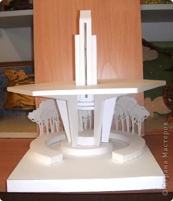 Ещё одна работа из копилочки моего мужа. Макет малой архитектурной формы в зоне отдыха. Работу выполнил Волков Александр, учащийся 9 класса. Попробую показать по частям. фото 1