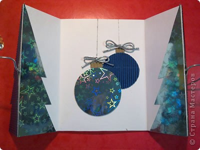 На выходных наконец занялась новогодними открытками для друзей))) Вот первая партия...))) фото 3