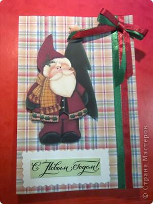 На выходных наконец занялась новогодними открытками для друзей))) Вот первая партия...))) фото 8