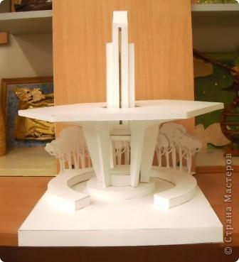 Ещё одна работа из копилочки моего мужа. Макет малой архитектурной формы в зоне отдыха. Работу выполнил Волков Александр, учащийся 9 класса. Попробую показать по частям. фото 9