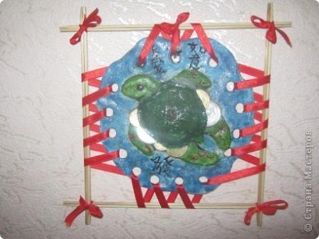 Не помню у кого видела эту чудную черепаху (заранее извеняюсь перед автором) и вот решила повторить.Не знаю на сколько мне это удалось,оцените пожалуйста. фото 1