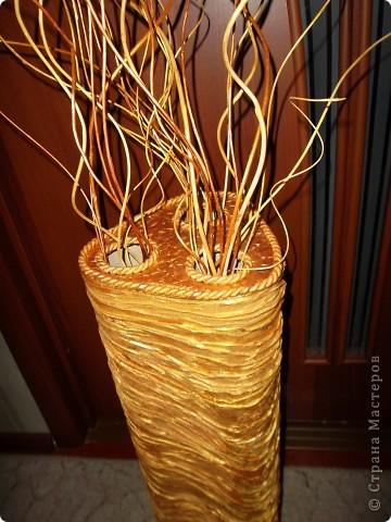 Напольная ваза с веточками из ивы фото 5