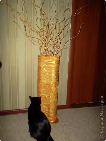 Напольная ваза с веточками из ивы фото 1